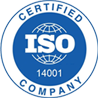 International Organization for Standardization Certified Company 14001 logo