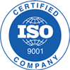 International Organization for Standardization Certified Company 9001 logo