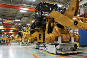 RedViking Battery-free AGVs on a Construction Vehicle Assembly Line