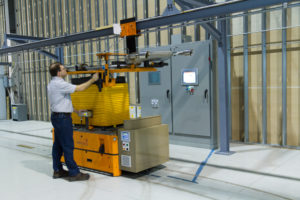 Battery-free AGV with Inductively Powered Lift